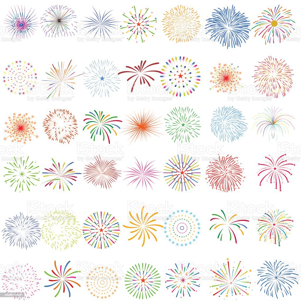 Fireworks Display for New year and all celebration vector illustration vector art illustration