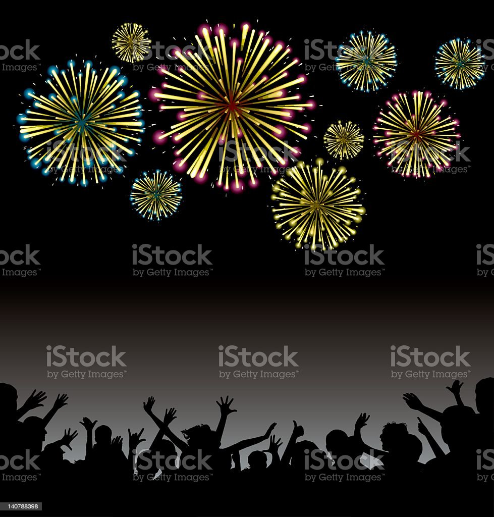 fireworks display - new year party royalty-free stock vector art