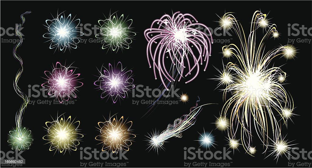 Fireworks Explosion Celebration royalty-free stock vector art