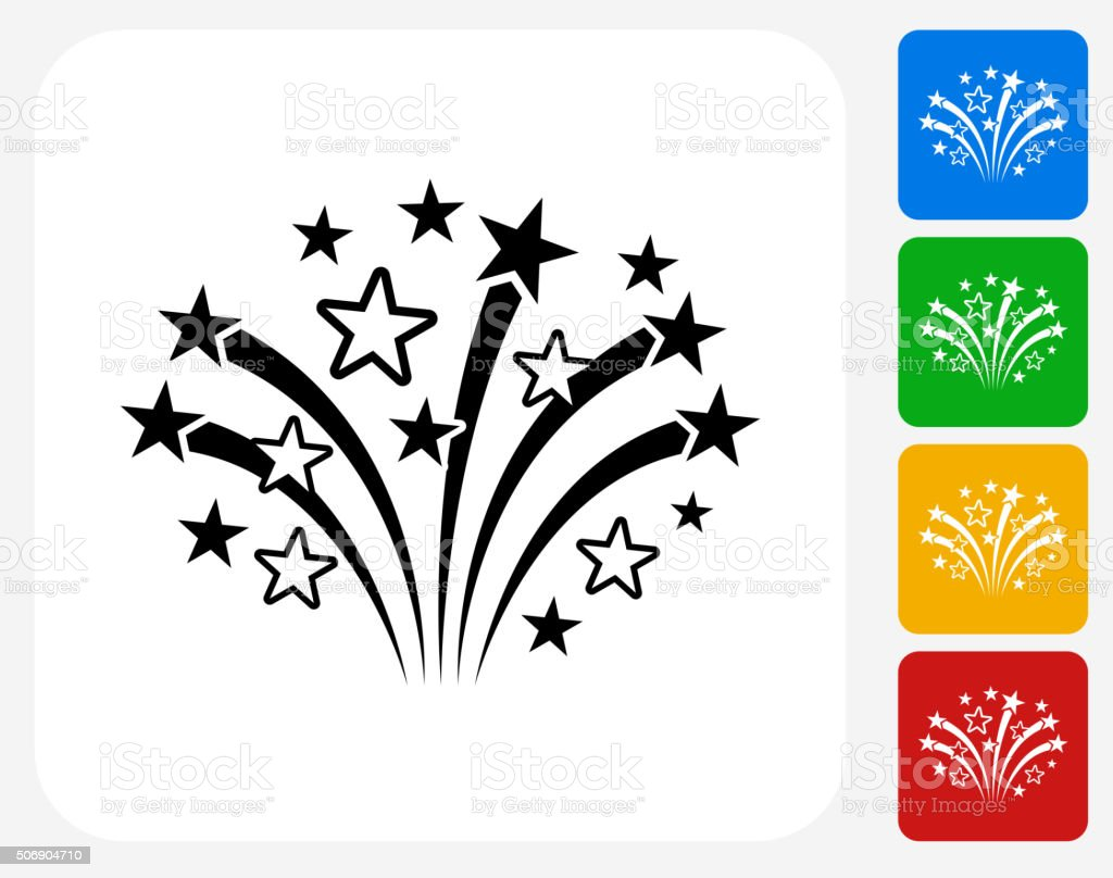 Fireworks Icon Flat Graphic Design vector art illustration