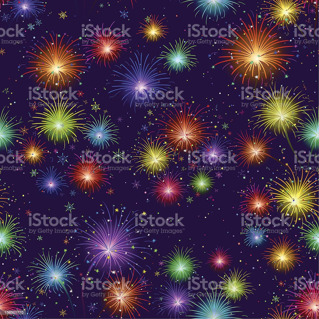 Fireworks, seamless royalty-free stock vector art