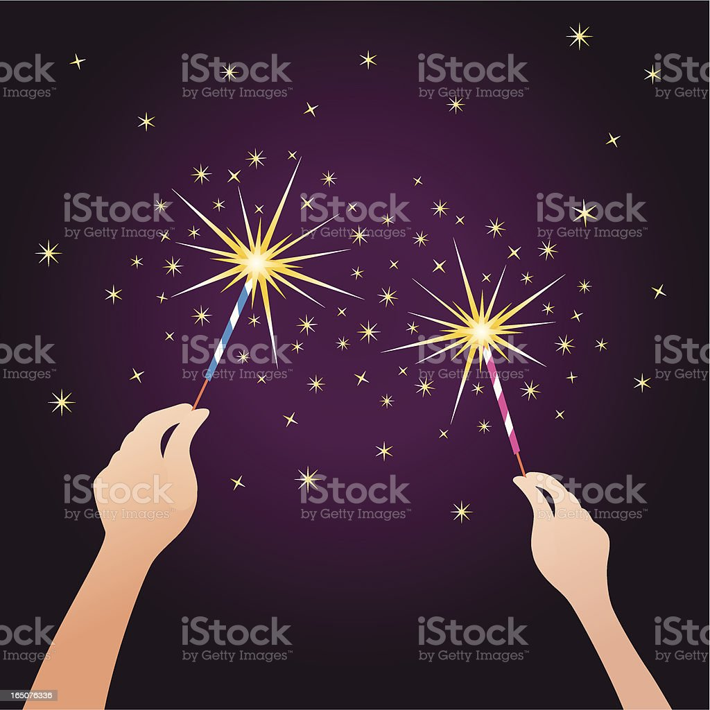 fireworks vector art illustration