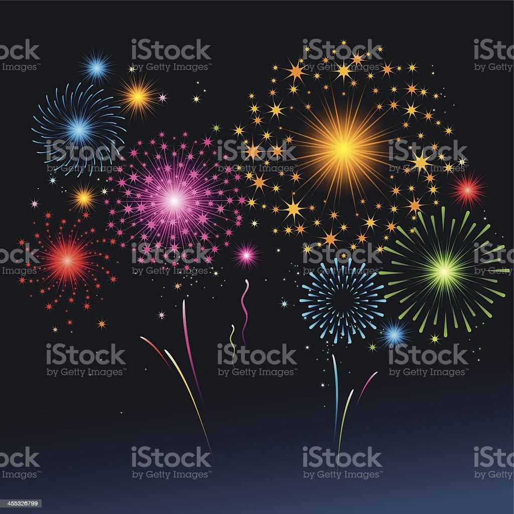 Fireworks royalty-free stock vector art