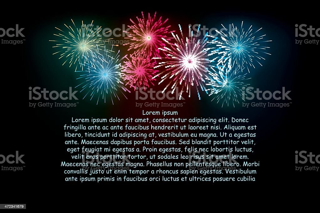 fireworks royalty-free stock vector art