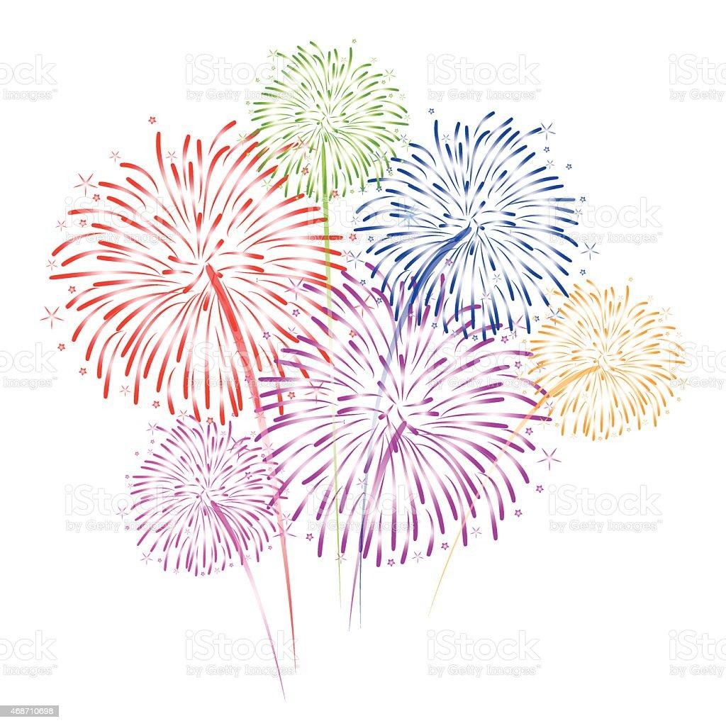 Fireworks Vector On White Background stock vector art ...