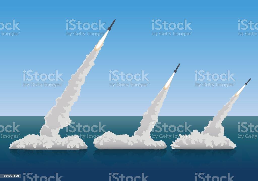 firing missiles, vector illustration vector art illustration