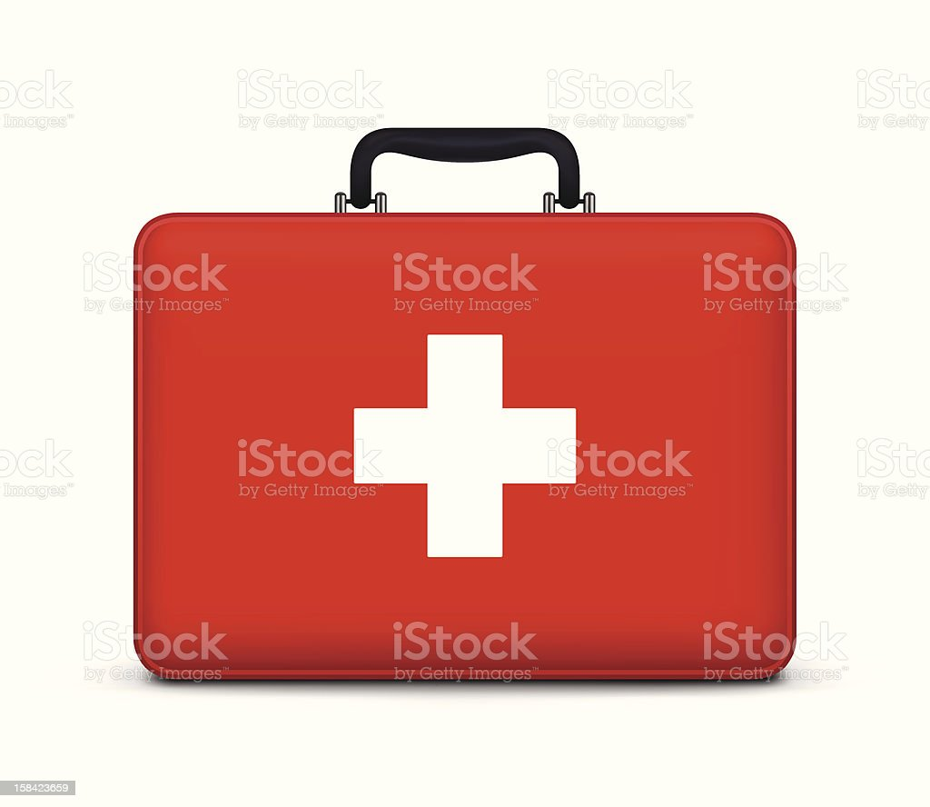 First Aid Case Icon vector art illustration