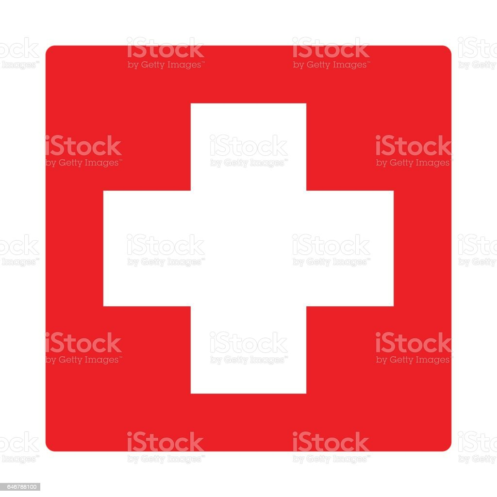 first aid icon isolated vector vector art illustration