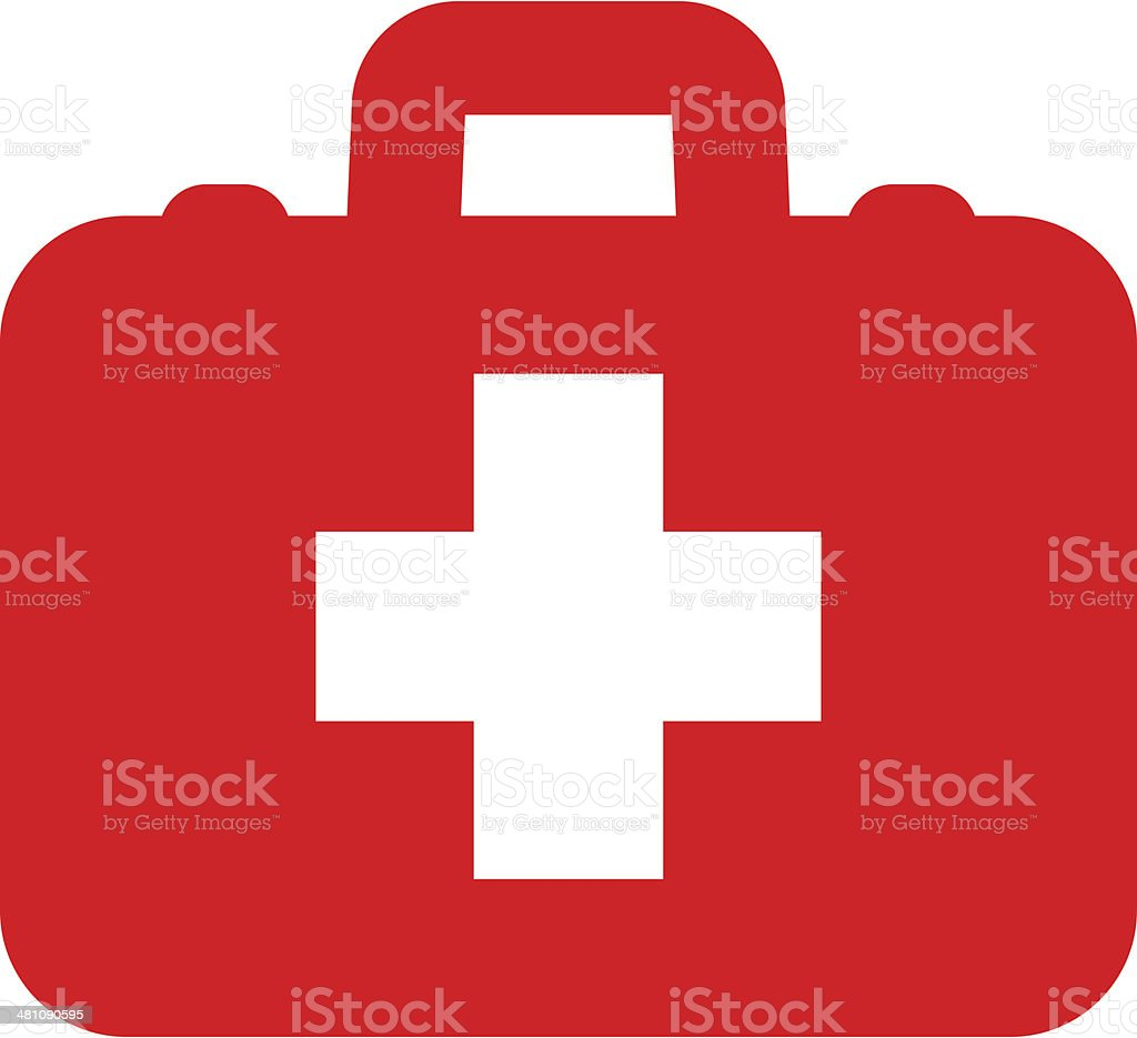 First aid icon vector art illustration