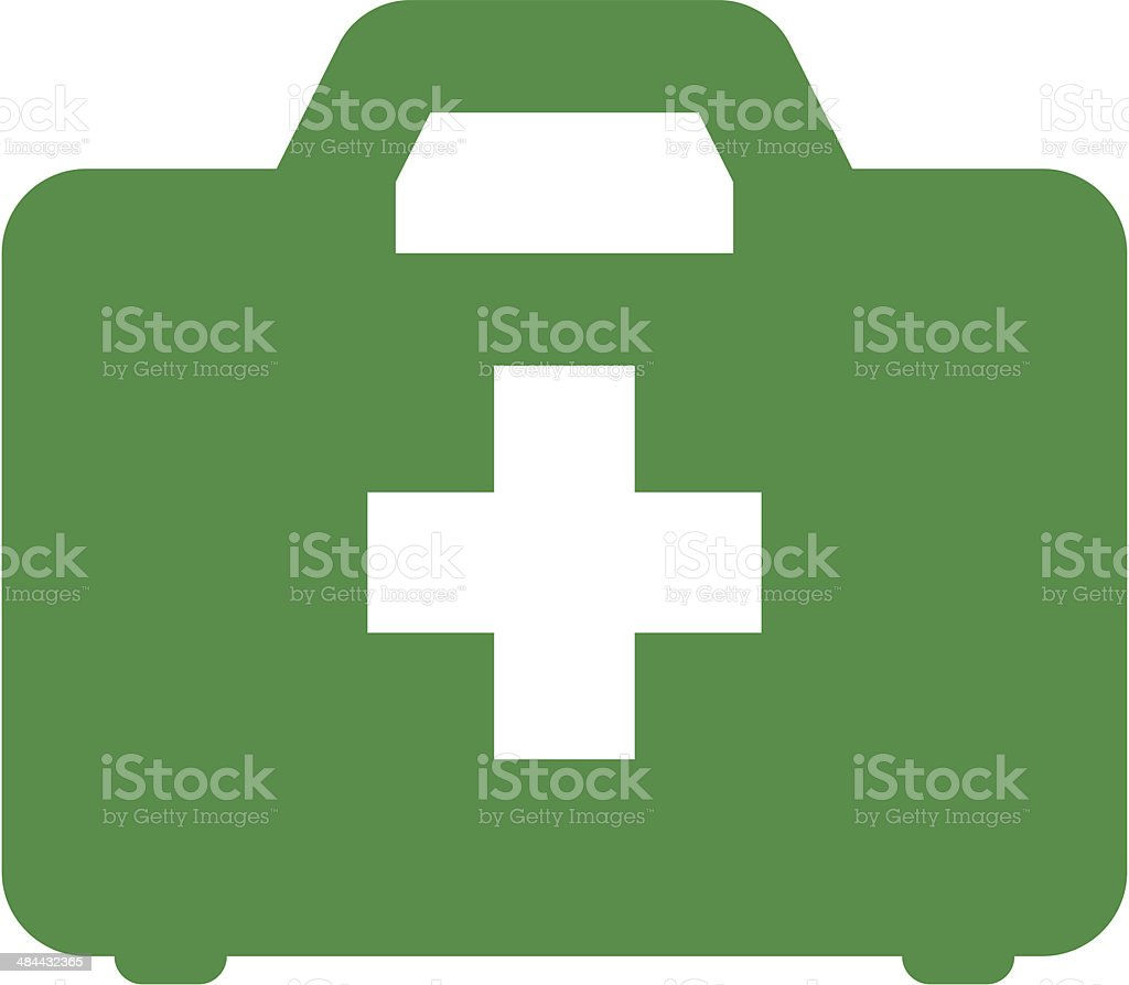 First aid kit icon vector art illustration