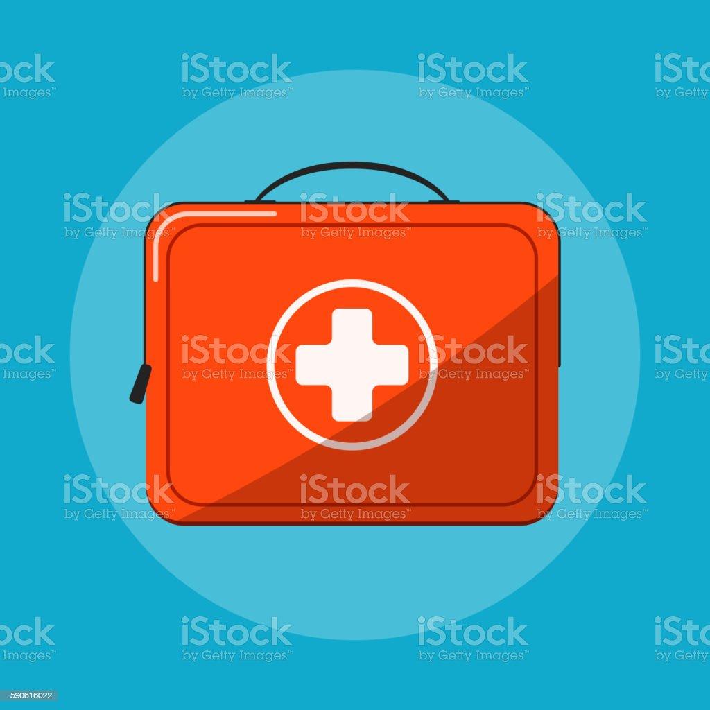 First aid kit vector icon vector art illustration