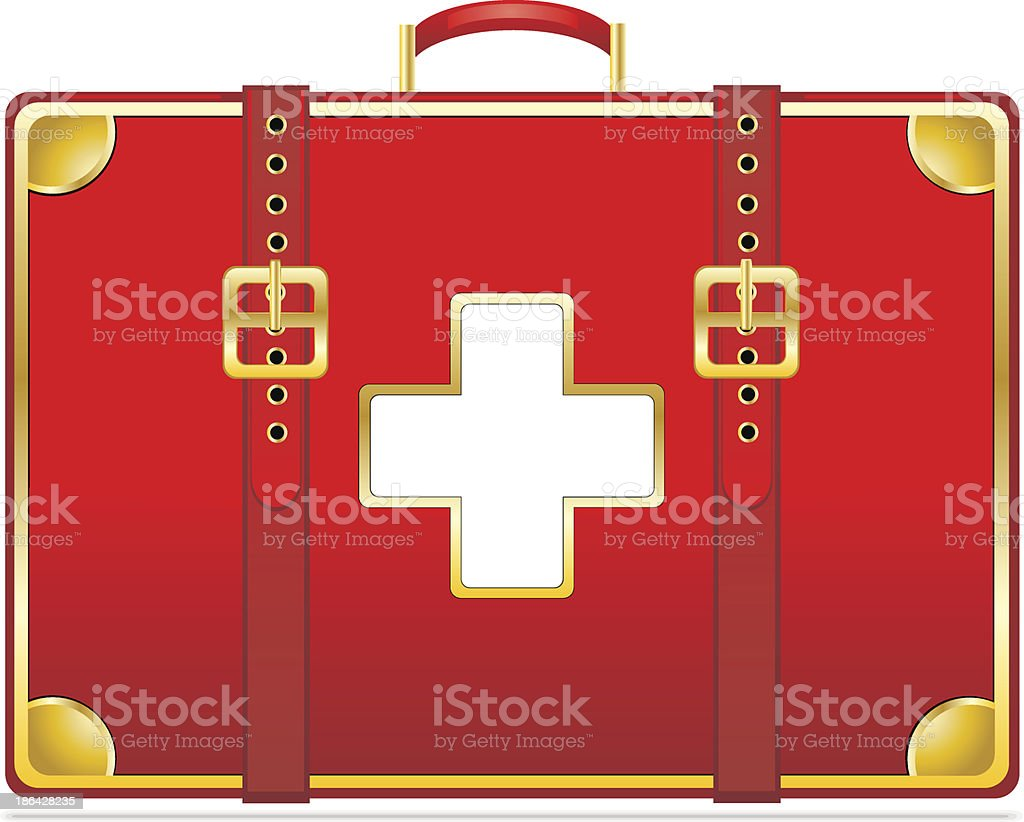 First aid kit royalty-free stock vector art