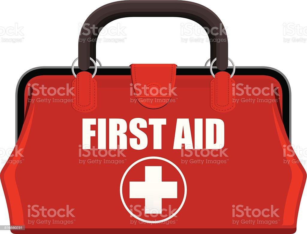 First Aid Kit vector art illustration