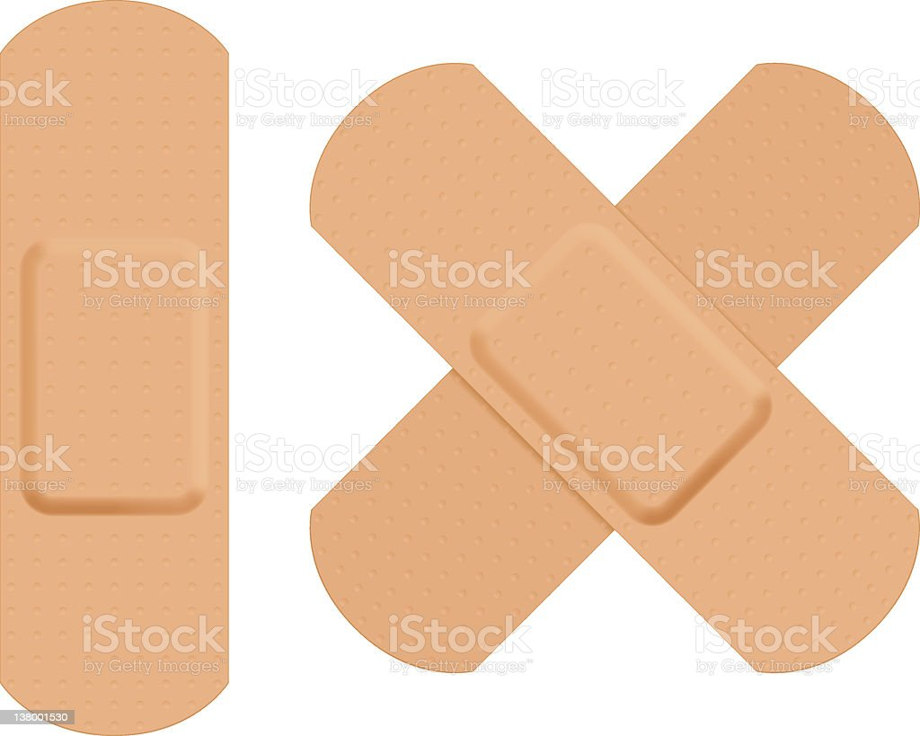 First aid plaster. royalty-free stock vector art