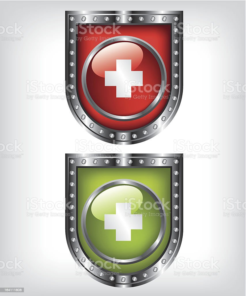First aid shield illustration royalty-free stock vector art