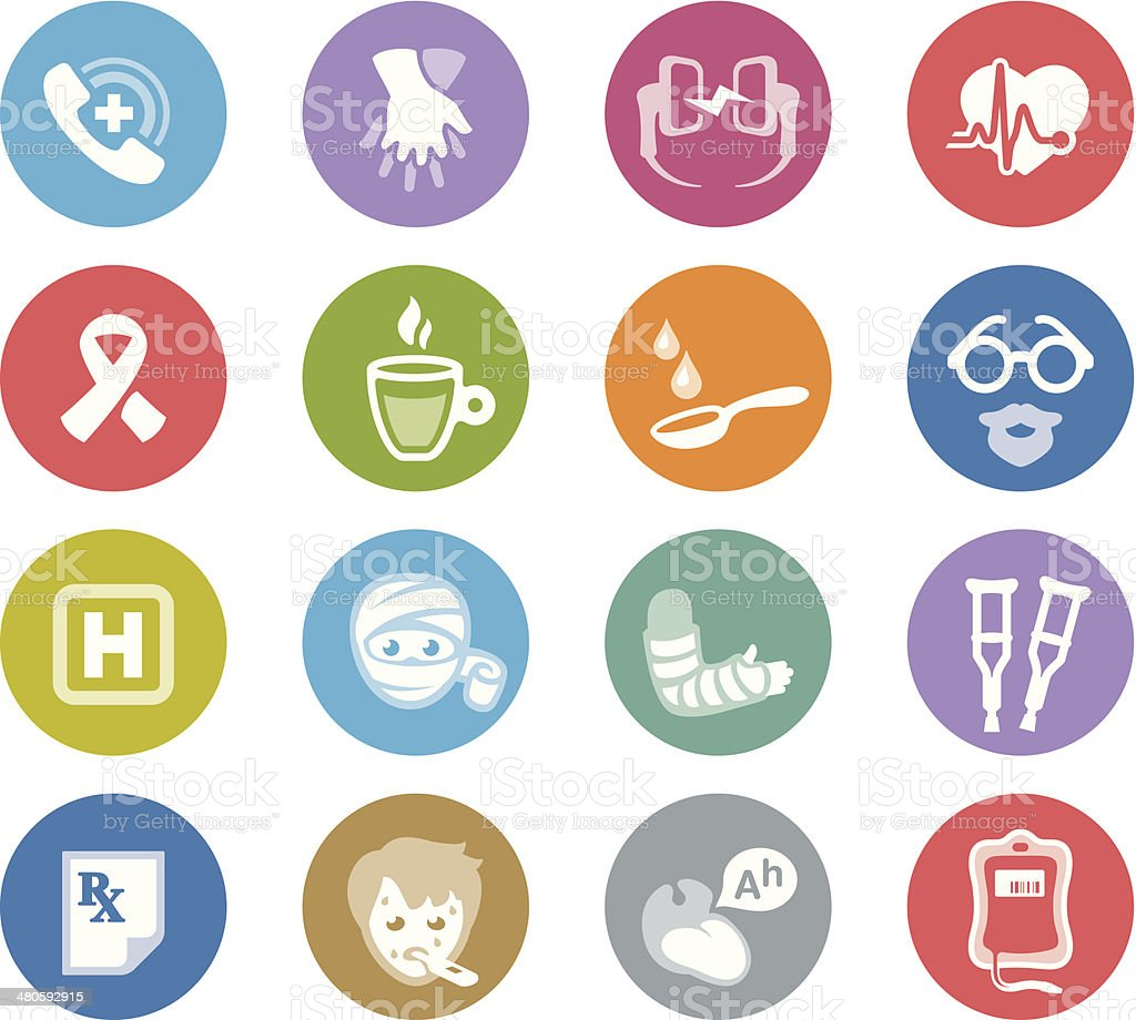 First Aid / Wheelico icons vector art illustration