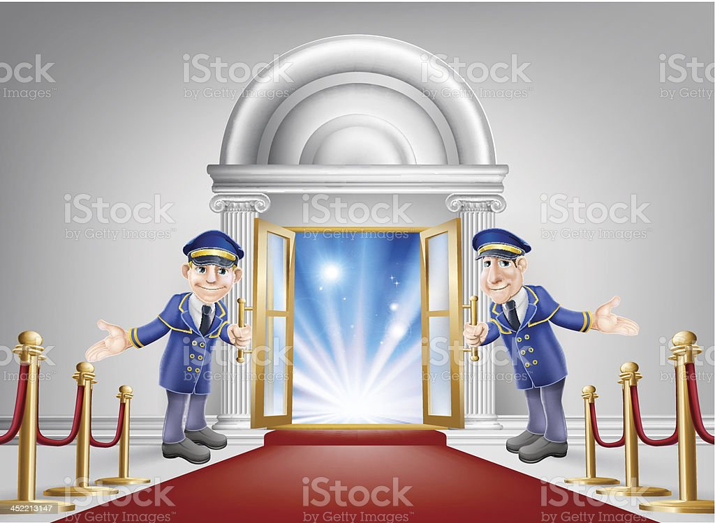 First class treatment royalty-free stock vector art