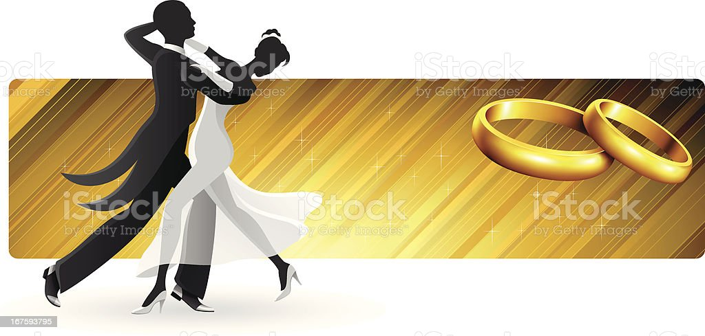 First Dance Banner royalty-free stock vector art
