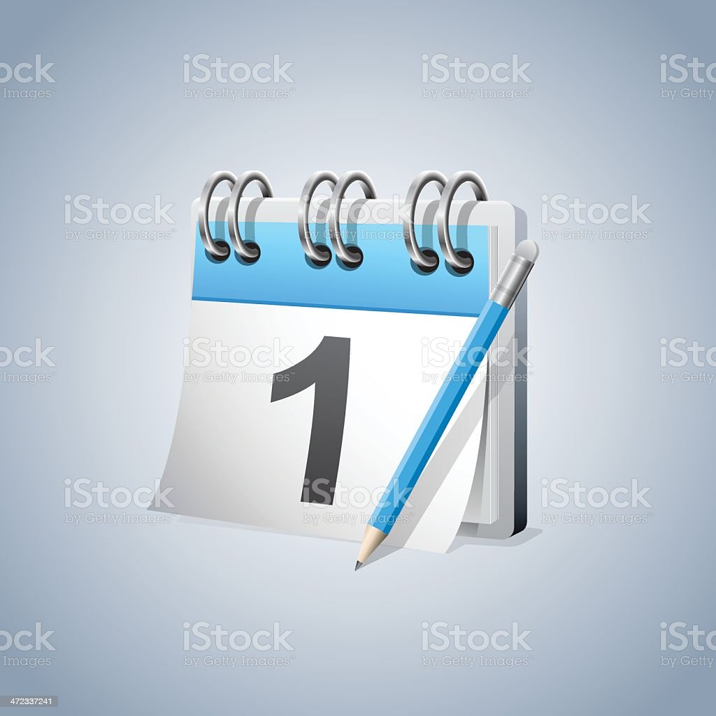 First day Calendar royalty-free stock vector art