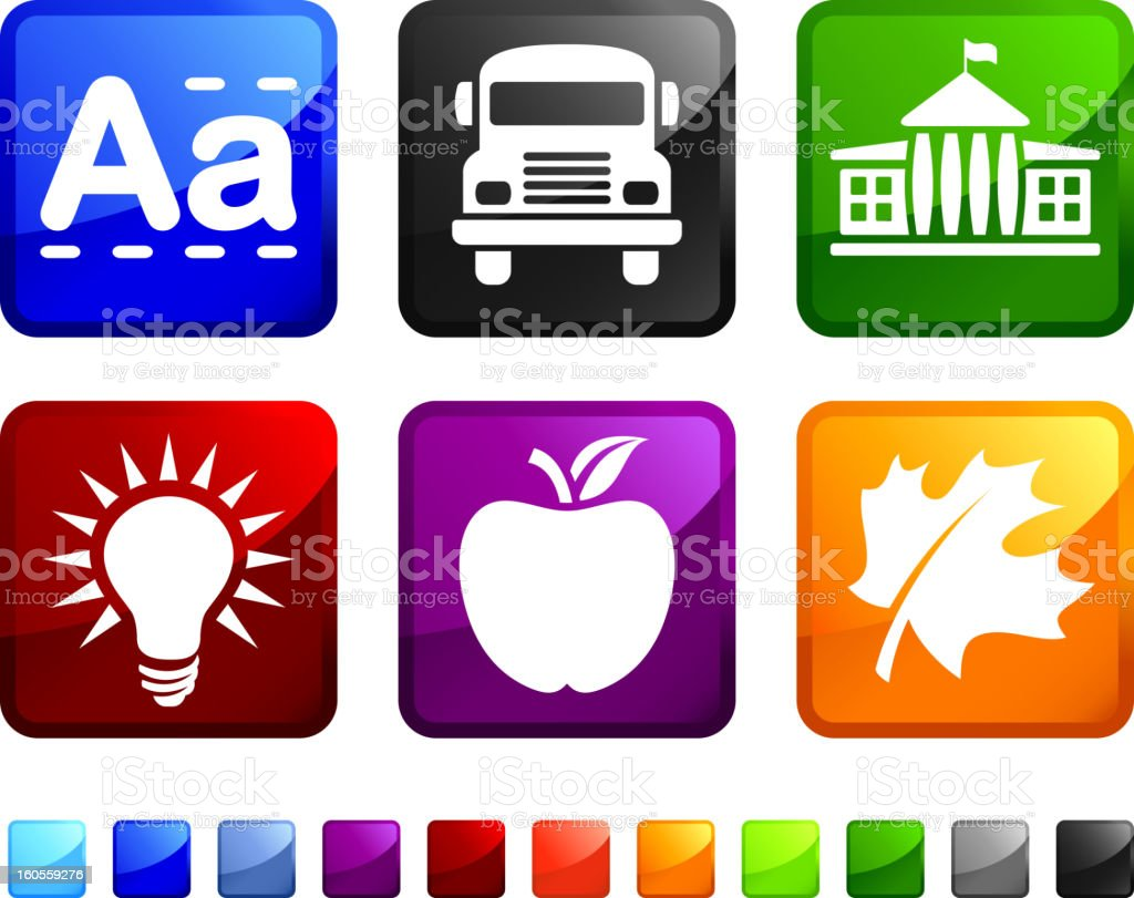 First Day of school royalty free vector icon set stickers royalty-free stock vector art