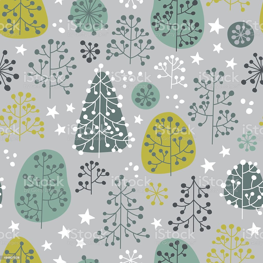 First Frost - seamless pattern vector art illustration
