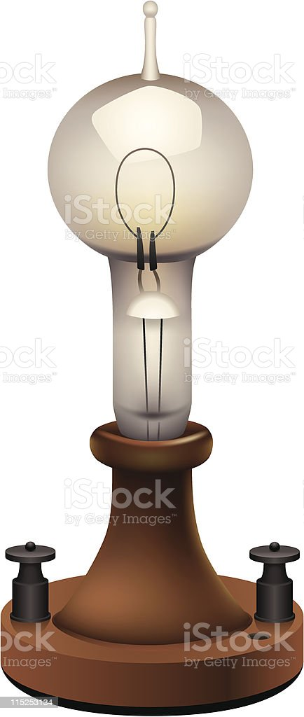 First light bulb royalty-free stock vector art