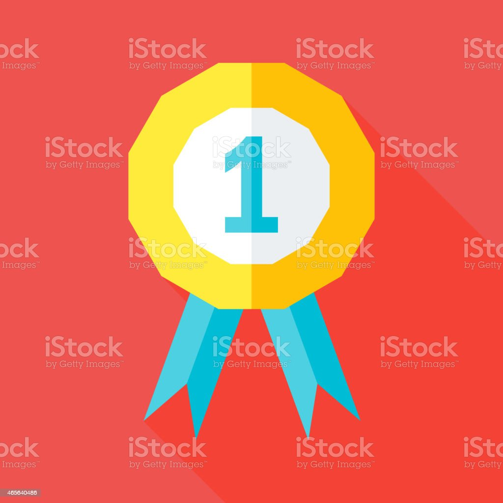 First place competition flat stylized sign vector art illustration