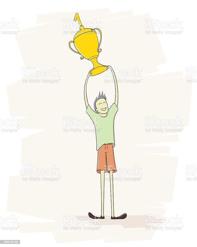 First place: Winner vector art illustration