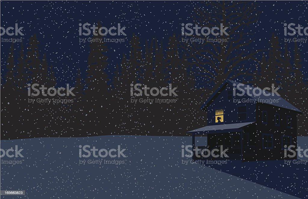 First Snow vector art illustration