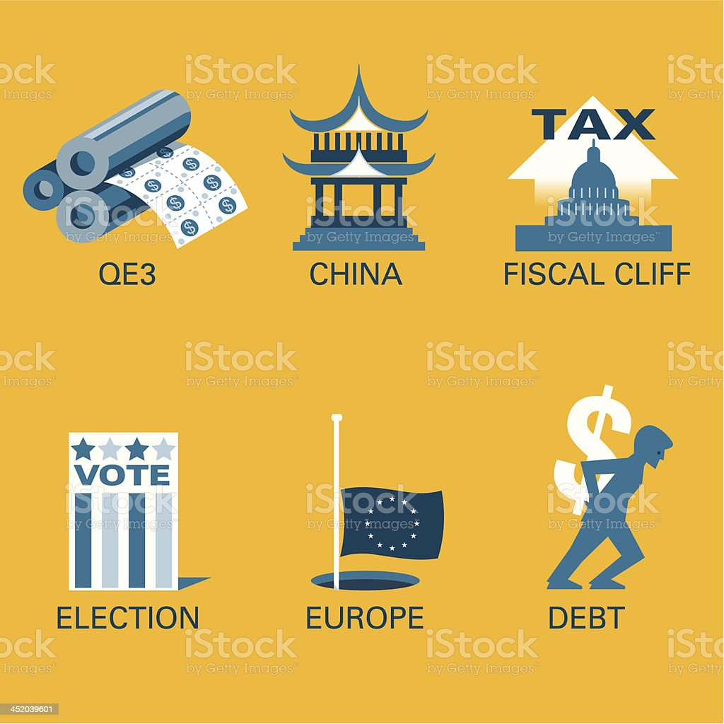 Fiscal problems royalty-free stock vector art
