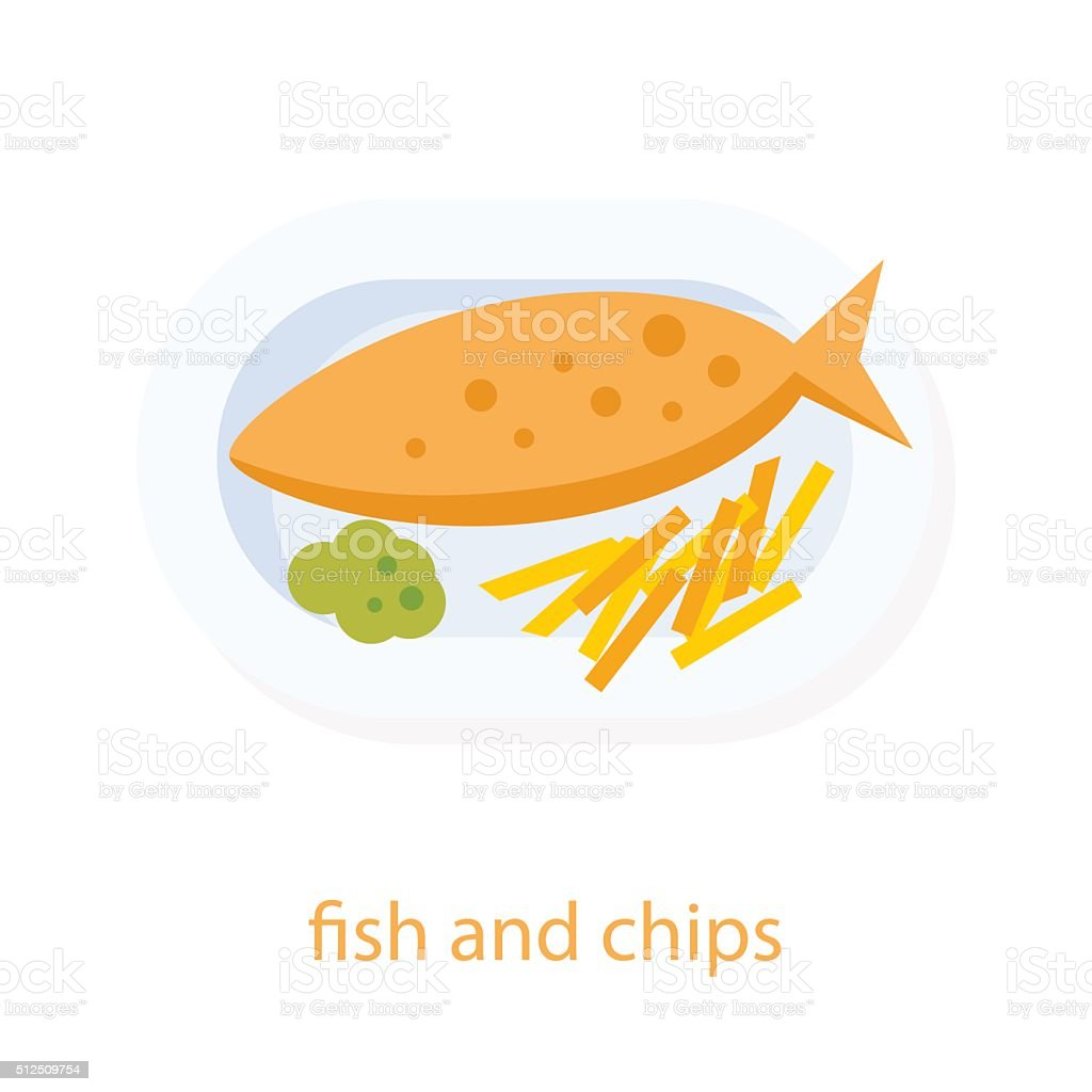 Fish And Chips Clip Art, Vector Images & Illustrations - iStock