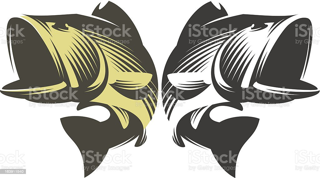 Fish Bass royalty-free stock vector art