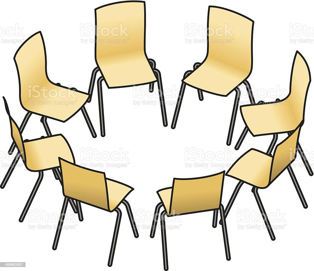 Stuhlkreis symbolkarte  Stuhlkreis Vektorgrafiken und Illustrationen - iStock