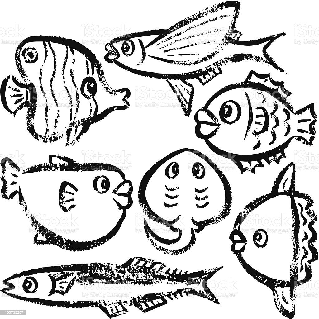 fish by handdrawn stock vector art 165733257 istock