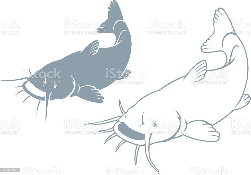 fish catfish vector art illustration