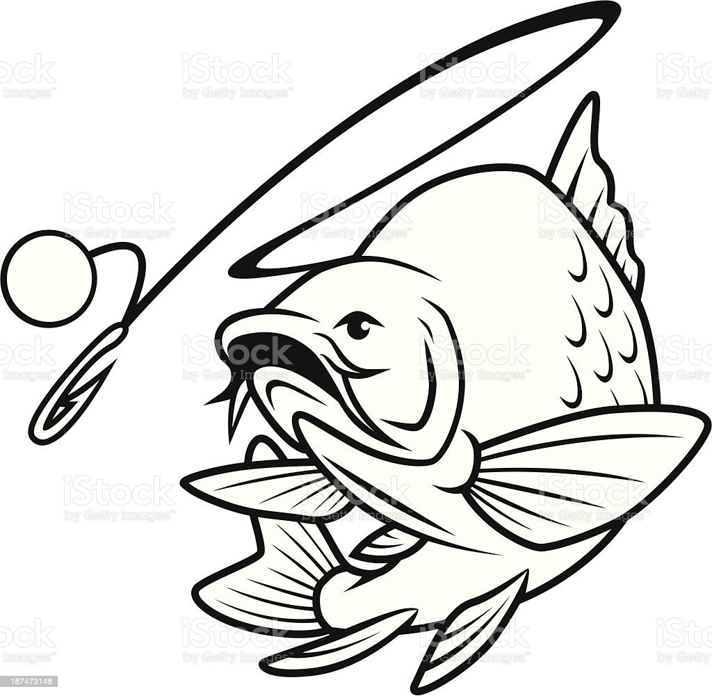Fish Chases Bait royalty-free stock vector art