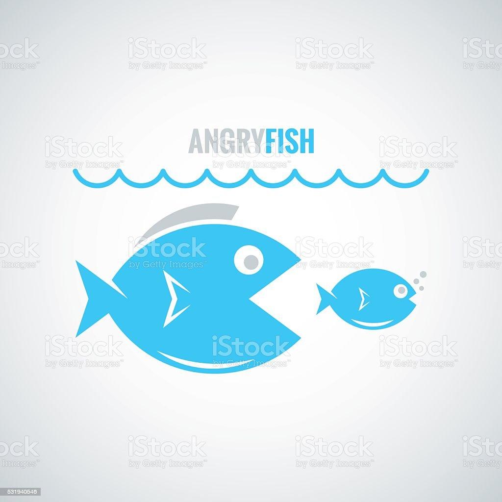 fish concept design background vector art illustration