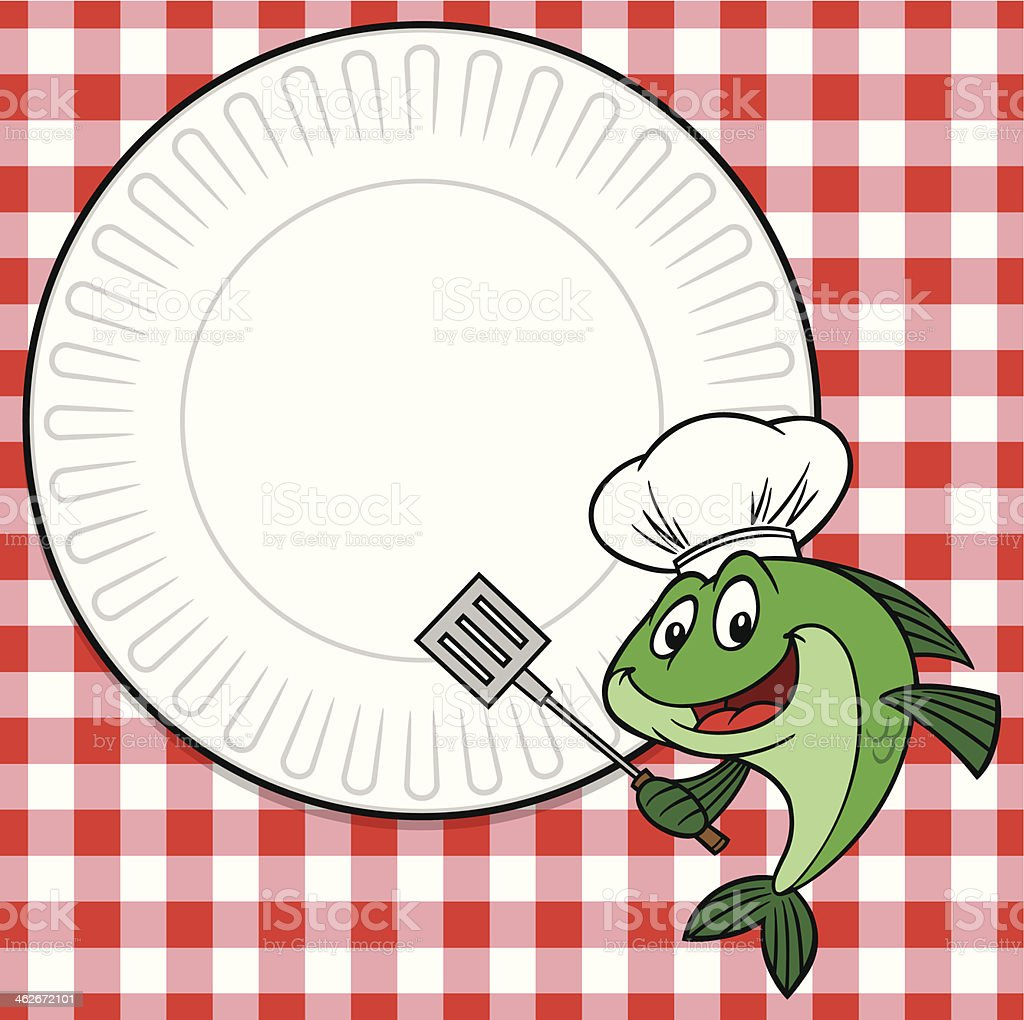 Fish Cookout Invite vector art illustration