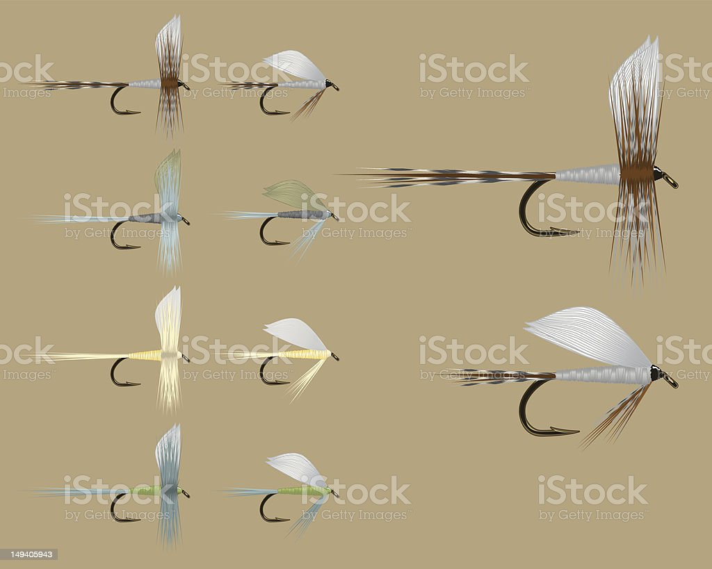 Fish Fly Assortment - Set One royalty-free stock vector art