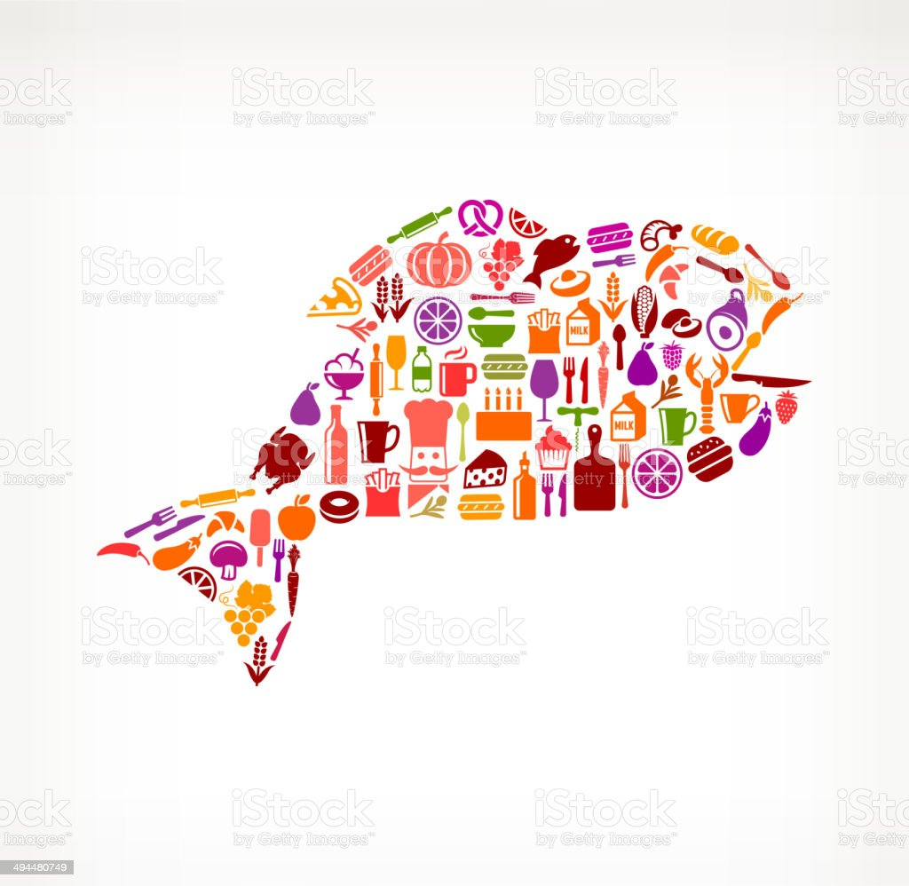 Fish Food & Drink royalty free vector arts royalty-free stock vector art