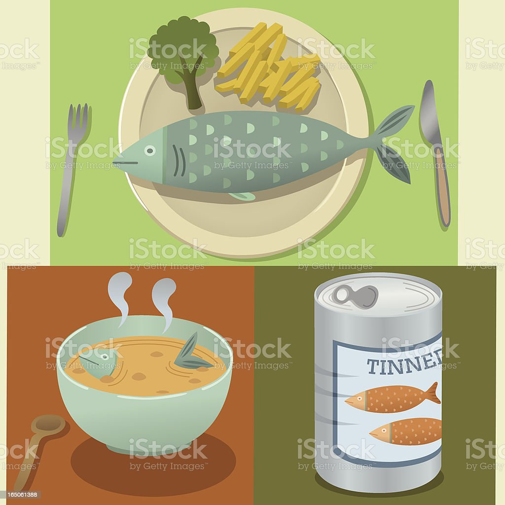 Fish Food vector art illustration
