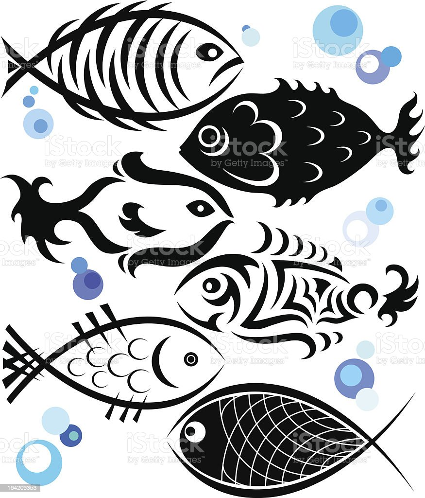 Fish for the vector royalty-free stock vector art