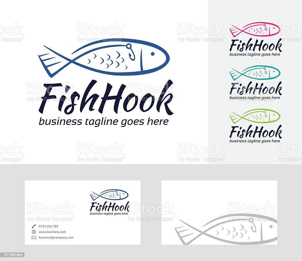 Fish Hook vector vector art illustration