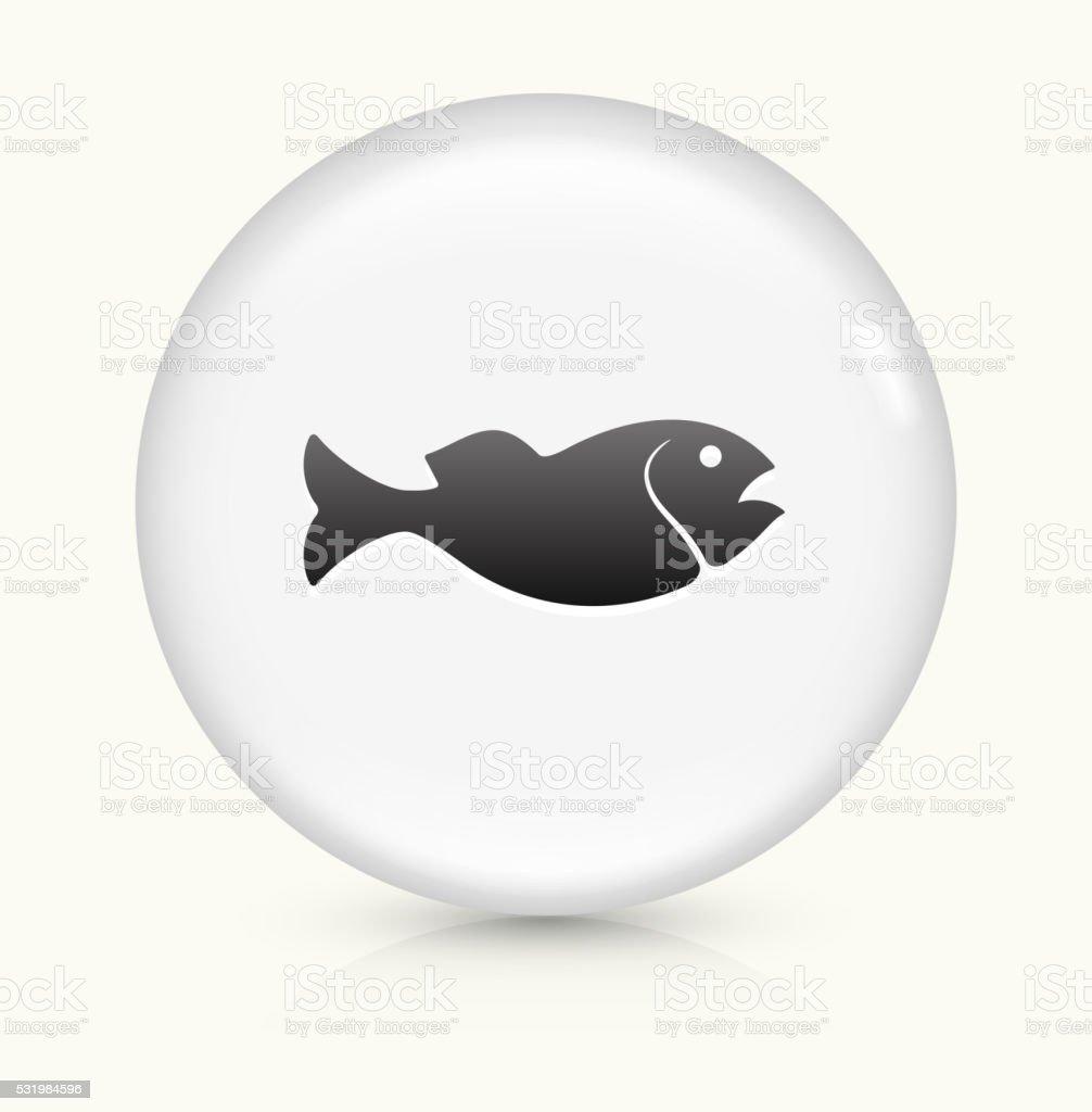 Fish icon on white round vector button vector art illustration