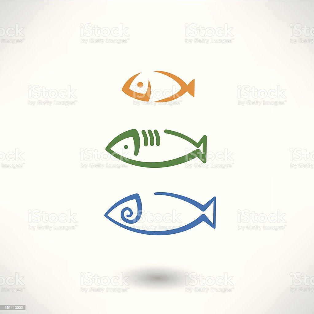 Fish icon royalty-free stock vector art