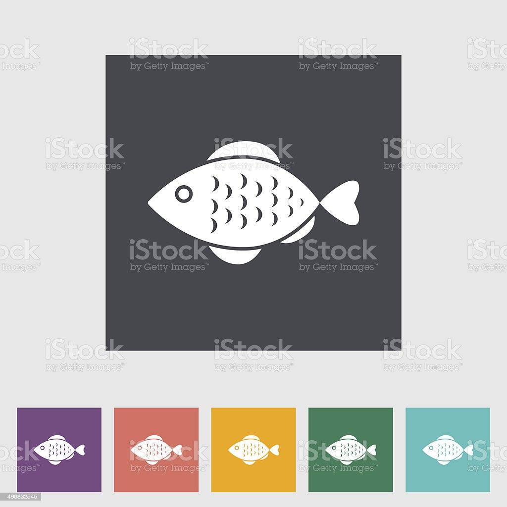 Fish icon royalty-free stock vector art