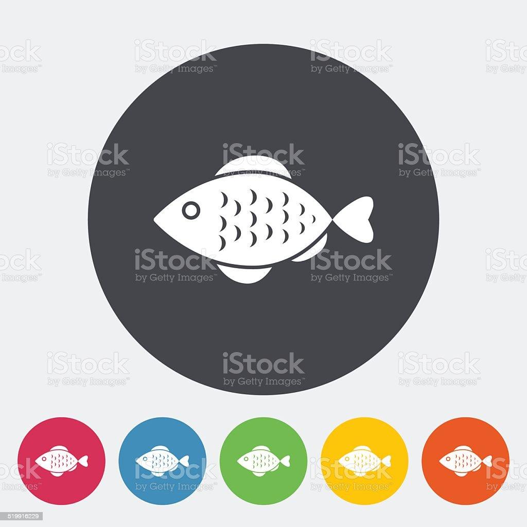 Fish icon vector art illustration