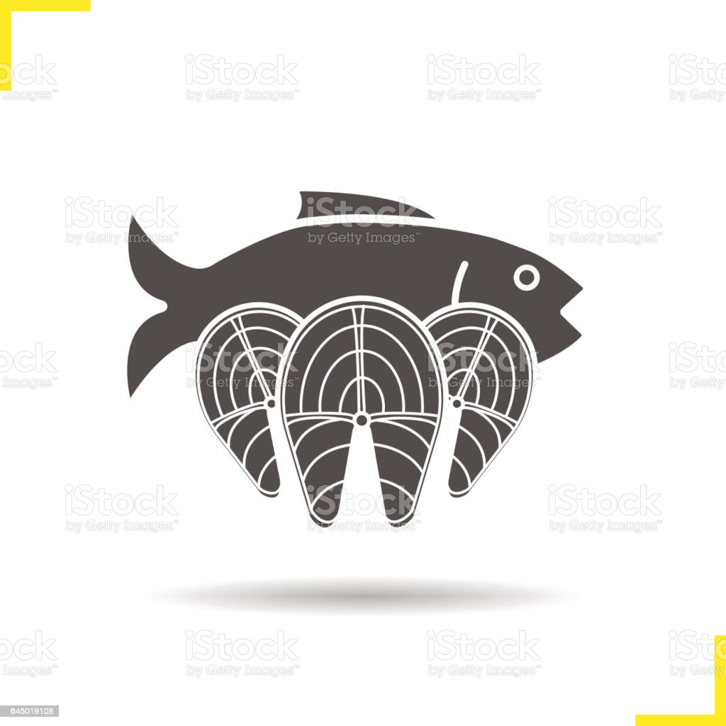 Fish icon vector art illustration