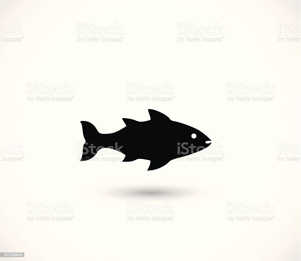 Fish icon vector vector art illustration