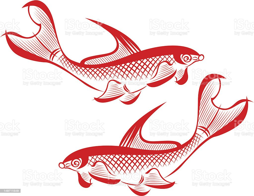 Illustrazione di pesce illustrazione royalty-free
